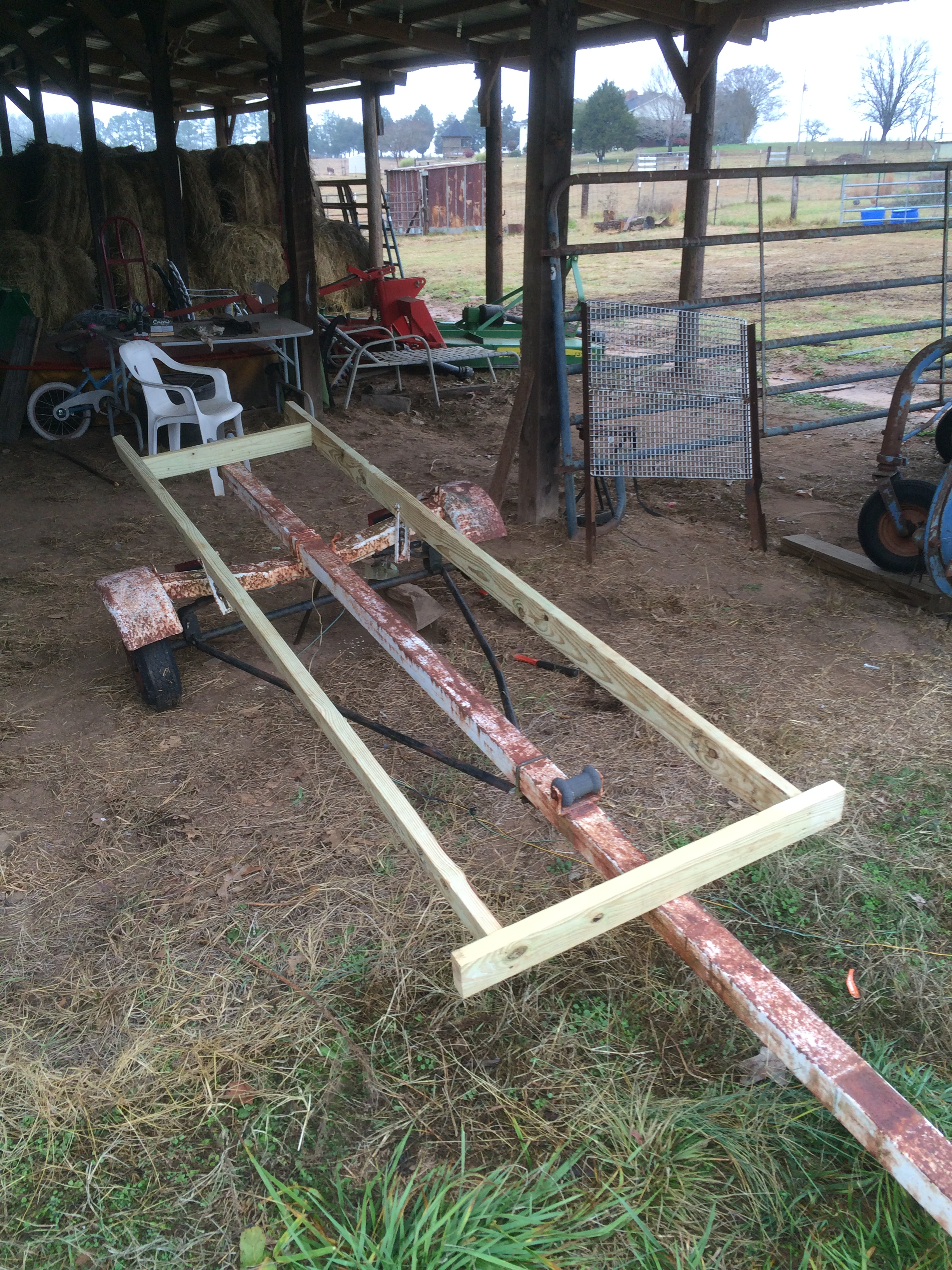 Converting an old boat trailer
